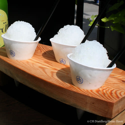 CH Distillery cocktail snow cones