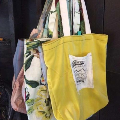 Queenstown Cares initiative about Boomerang Bags in Queenstown reusable shopping bags