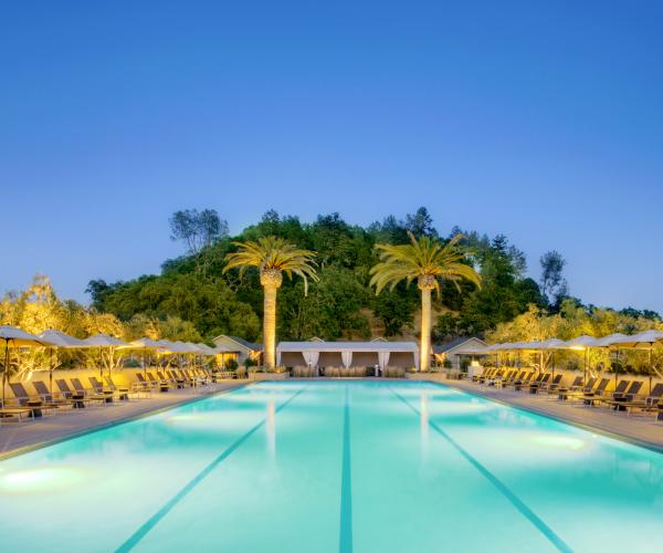 The pool at Solage Calistoga in Napa Valley