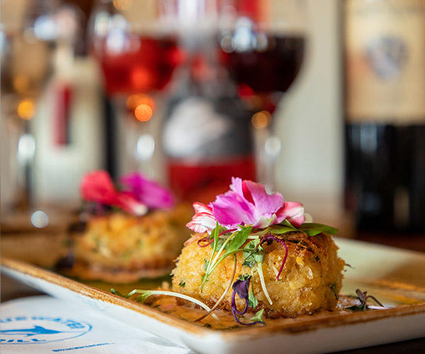 Crabcakes at Bluewater Grill