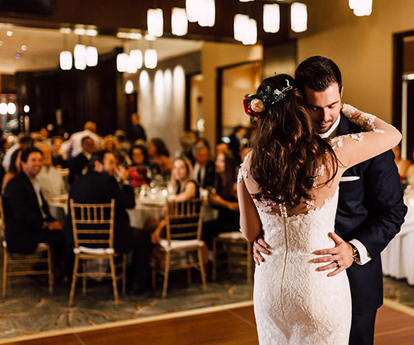 Pechanga Grand Ballroom Weddings - Couple dancing reception