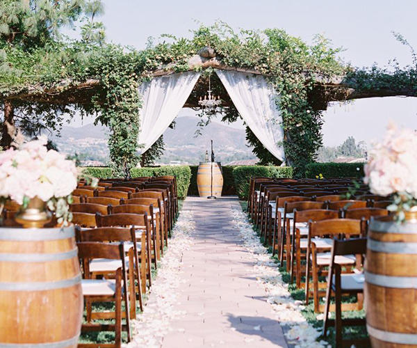 South Coast Wine Country Weddings - Ceremony seating