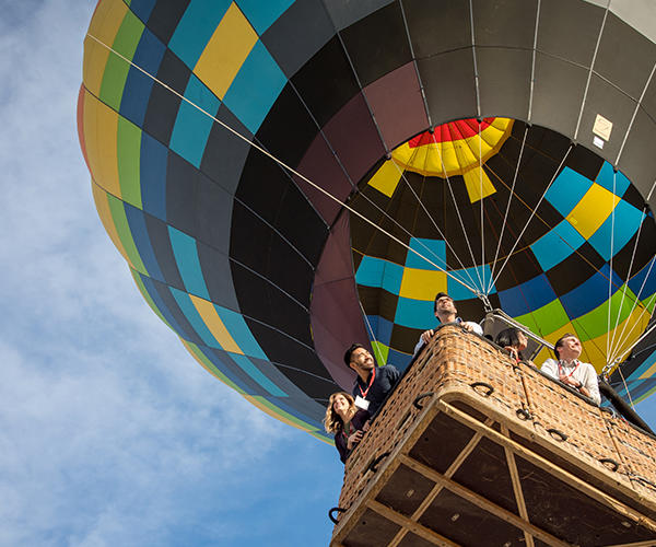 Group on Hot Air Balloon in Temecula Valley
