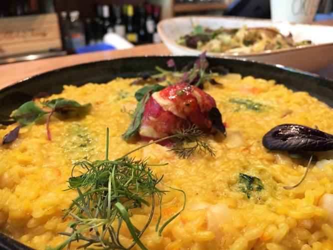 Taverna Novo plate of risotto
