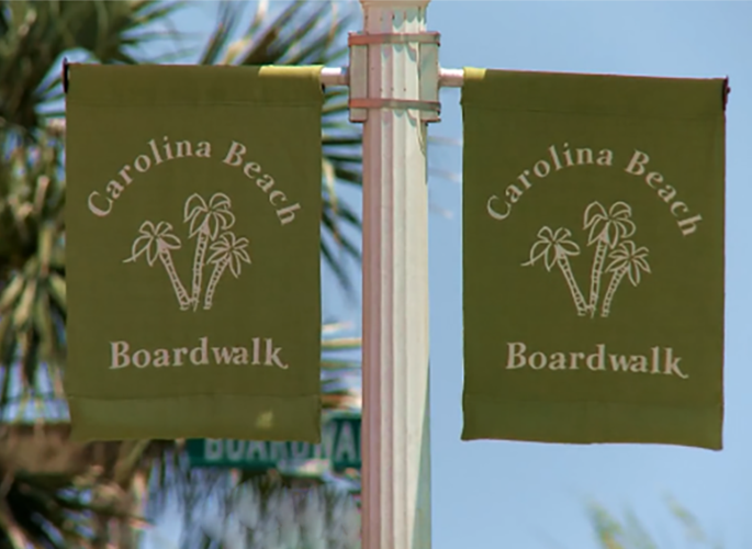 Carolina Beach boardwalk banners