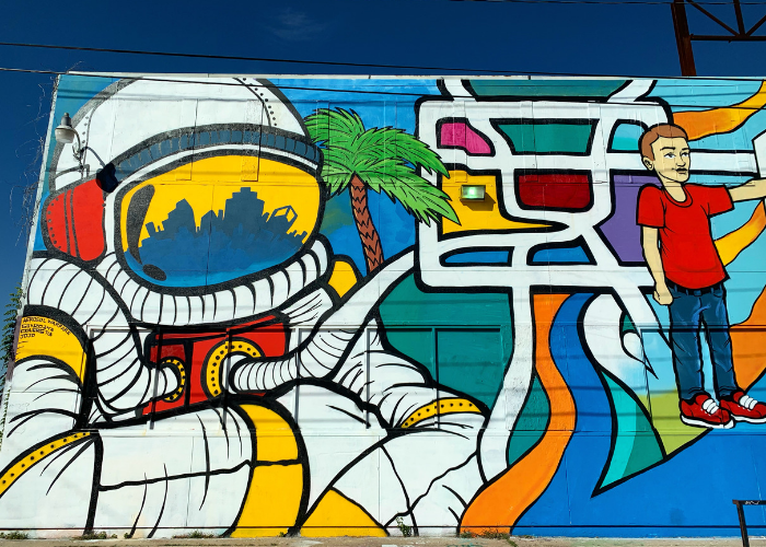 Astronaut and Houston Mural