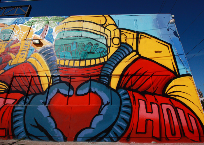 Astronaut loves Houston Mural
