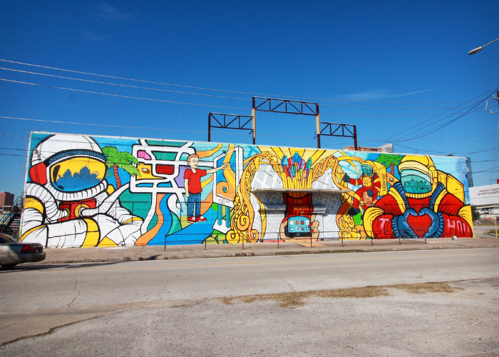 Astronauts and Houston Mural