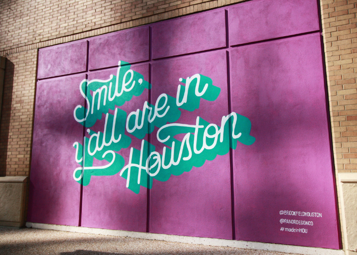 Smile Y'all are in Houston Mural