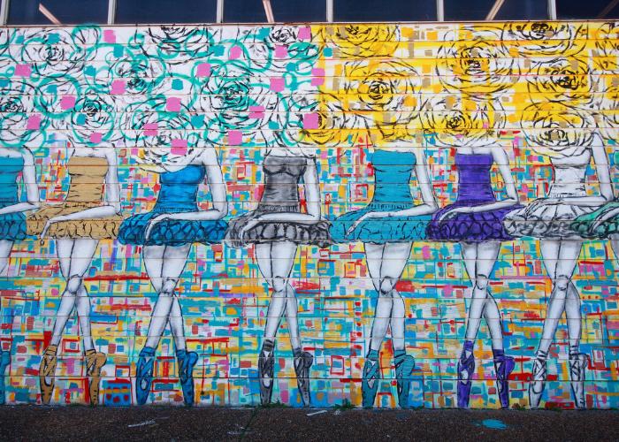 Ballerinas Mural