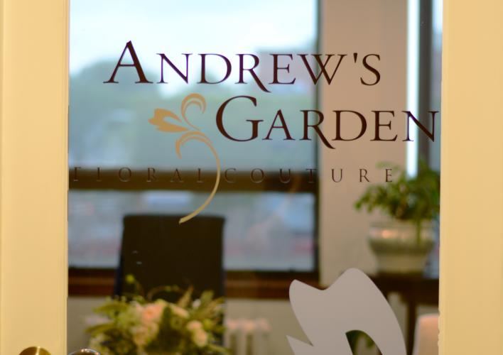 Andrew's Garden Salon Entrance