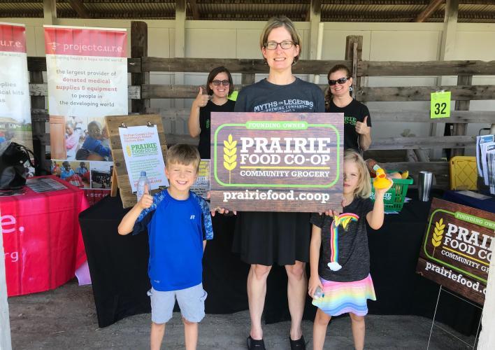 Prairie Food Co-op at local farmer's market