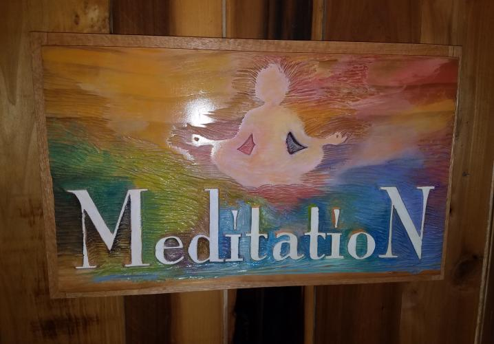 Sign for the Meditation Room
