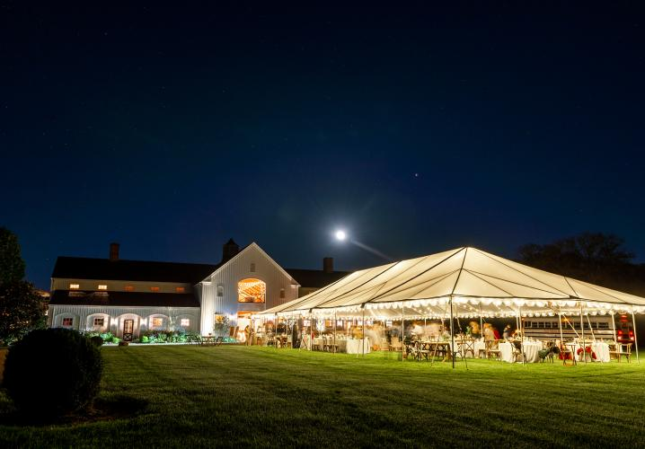Tented Wedding Reception at Castle Hill Cider