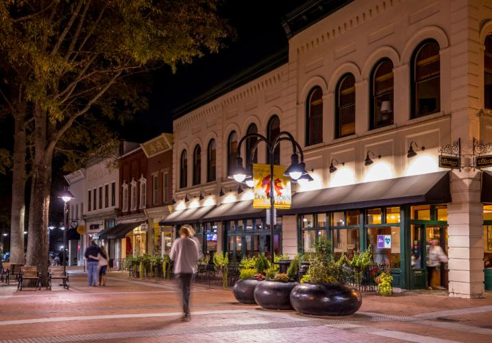 Downtown Mall at Night
