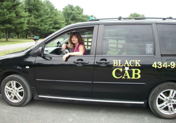 Jini driving the van
