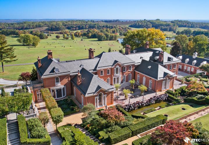 Back View of Albemarle Estate