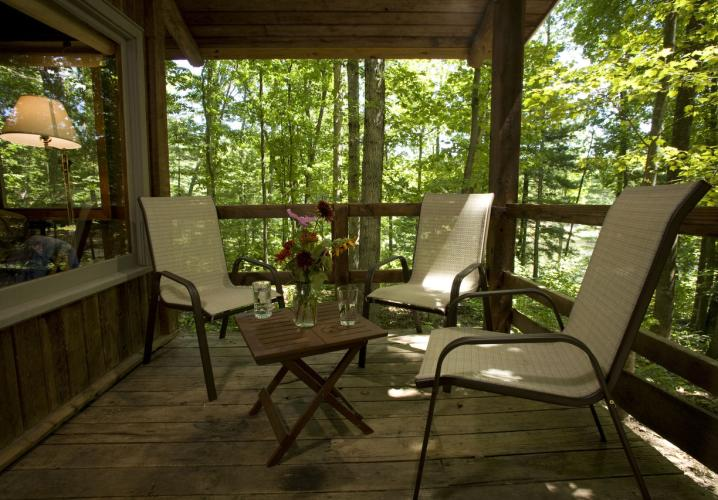 Relax on your Private porch- overlooks lake