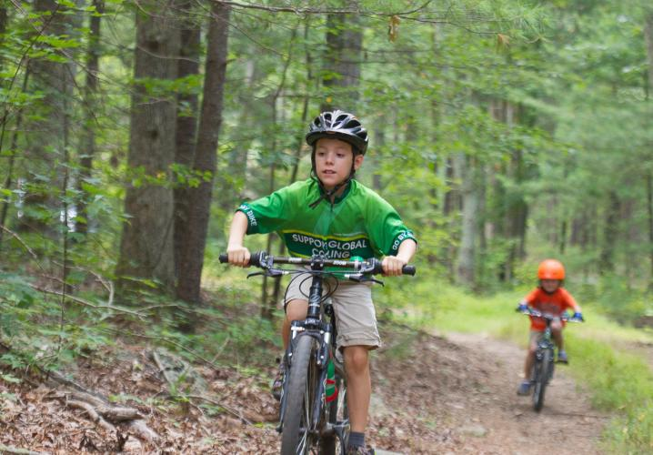 Kids enjoy mountain biking on Montfair trails