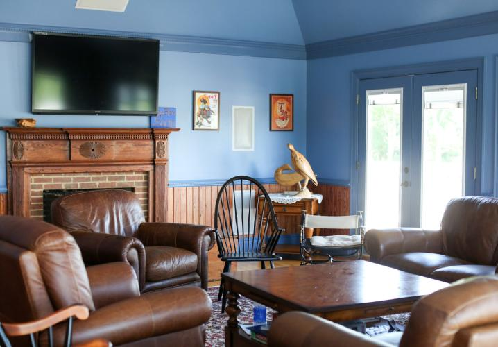 DirecTV is available in the Blue Room - a central meeting point in the Lodge.
