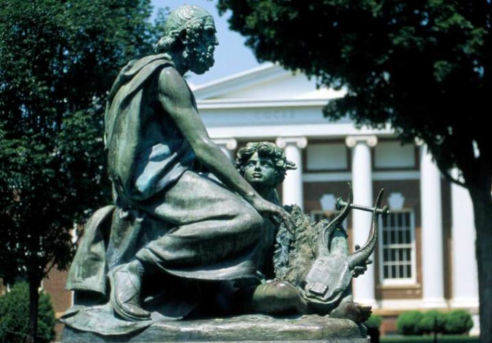 Statue of Homer on UVA's Lawn