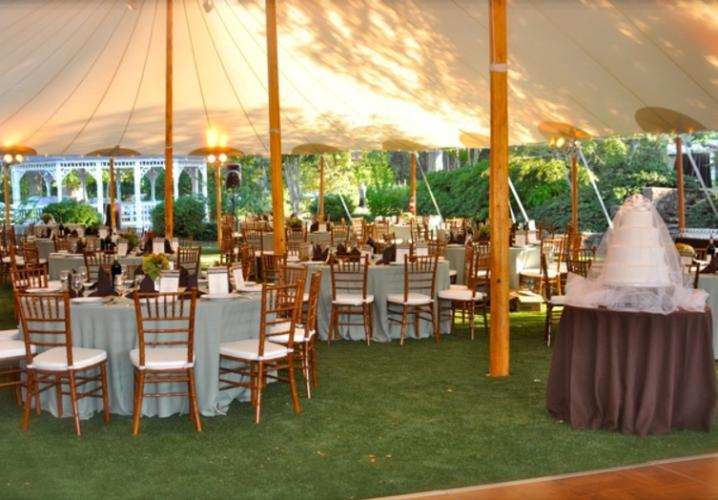 Reception Tent at Keswick Vineyards