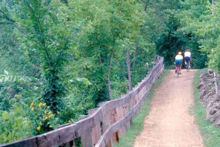 Red Cedar State Trail in Menomonie, Wisconsin