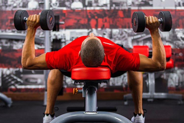 Snap Fitness: lifting weights