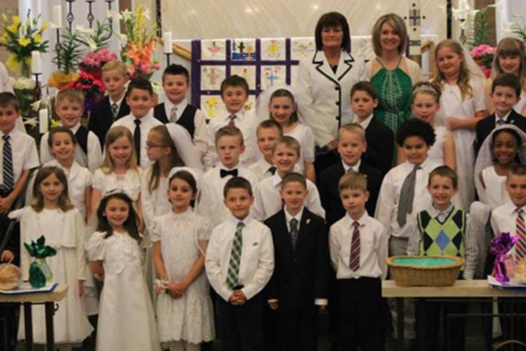 St. James 1st Communion Class at St. James The Greater Church in Eau claire, WI