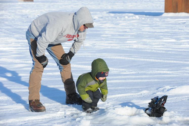 Lake Altoona Ice Fishing in Altoona, WI
