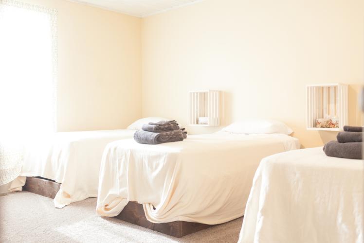 Curvue Hideaway & Trees Retreat Center massage beds in Eau Claire, Wisconsin