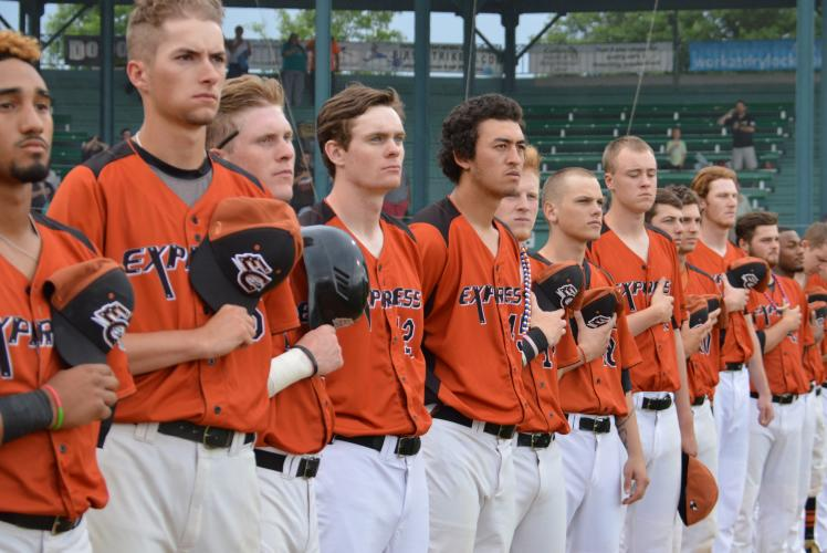 Eau Claire Express Baseball Team National Anthem