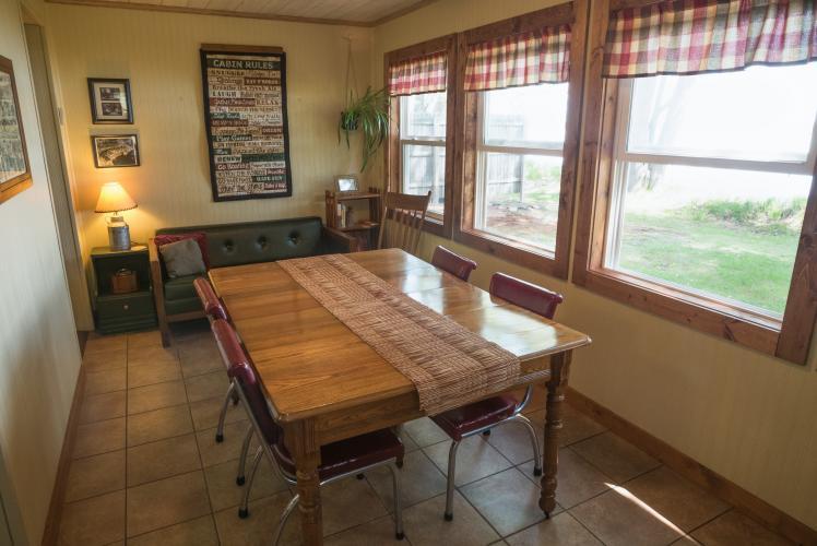 Hideaway Resort Cabin Kitchen - Chippewa Falls, WI