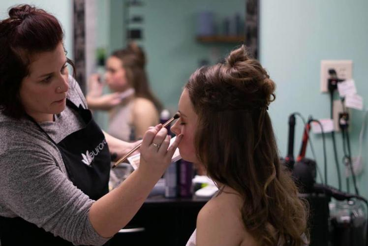 Indulge Salon and Spa: getting makeup down