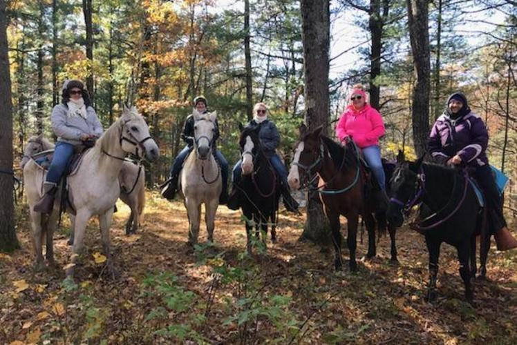 Wilderness Pursuit Horseback Adventures: group riding horses