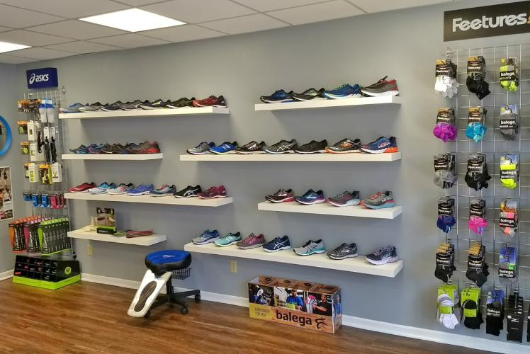 Blue Ox Running Shoe Wall