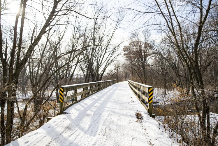 Buffalo River State Trail in Winter