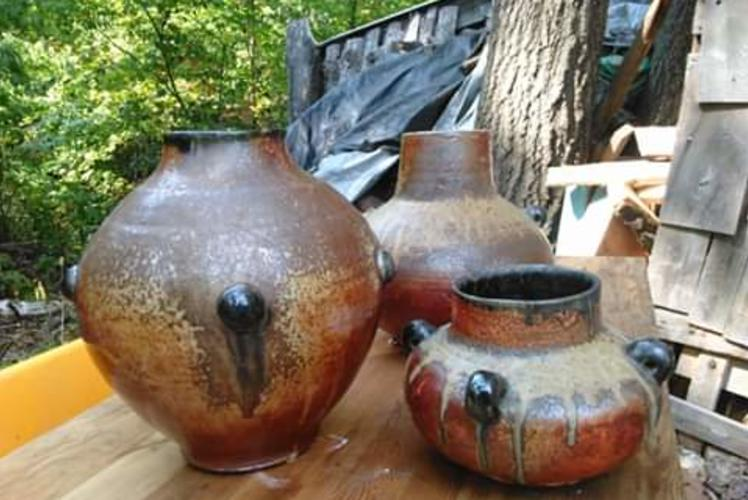 Pots outside