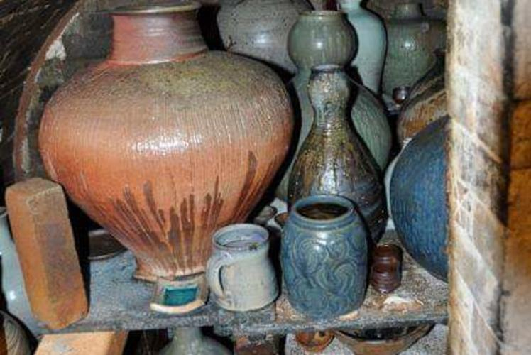 Shelves of Pots