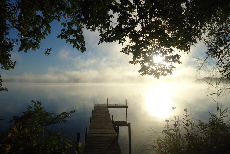 Morning Sunrise at the Hideaway Resort off Lake Wissota- Chippewa Falls, WI
