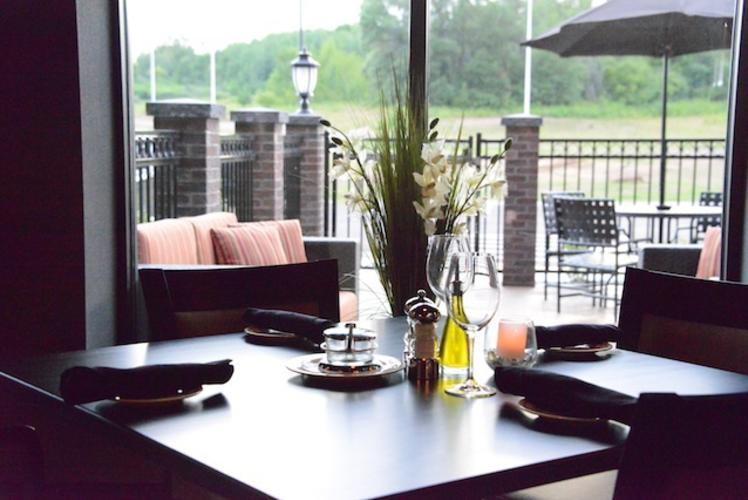 Overlooking Outdoor Dining at Johnny's Italian Steakhouse in Eau Claire, Wisconsin