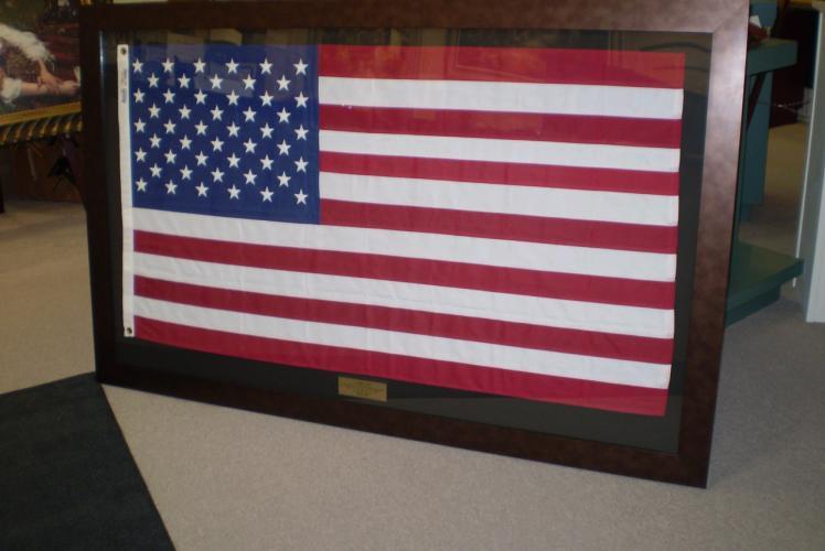 B~Framed Galleries - Framed American Flag