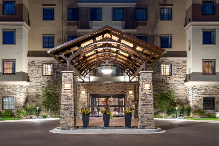 The Front Entrance of the Staybridge Suites Eau Claire-Altoona