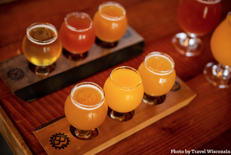 Flights of Beer at Brewing Projekt