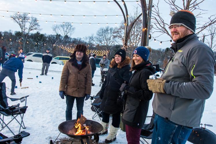 Winter Kubb Event in River Prairie Park