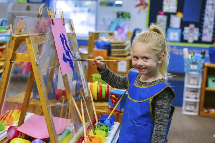 Regis Catholic School Eau Claire, Wisconsin Child painting