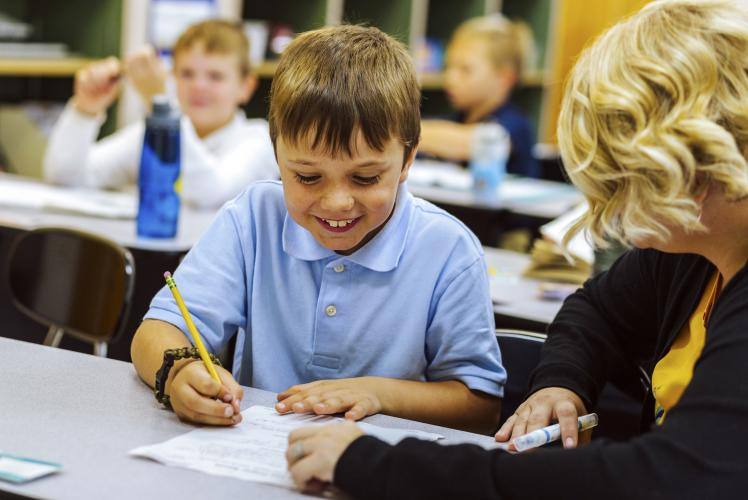 Regis Catholic School Eau Claire, Wisconsin Child learning