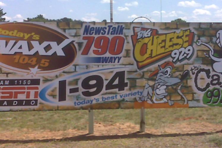 WAXX Banner made by Action Signs in Eau Claire, WI