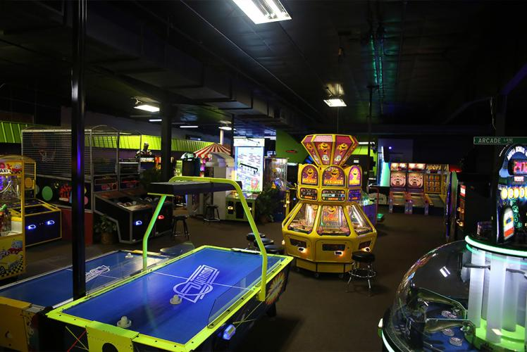 Action City Trampoline Park & Fun Center arcade overview