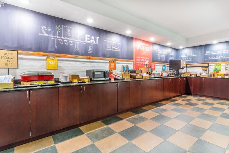 Hampton by Hilton breakfast center